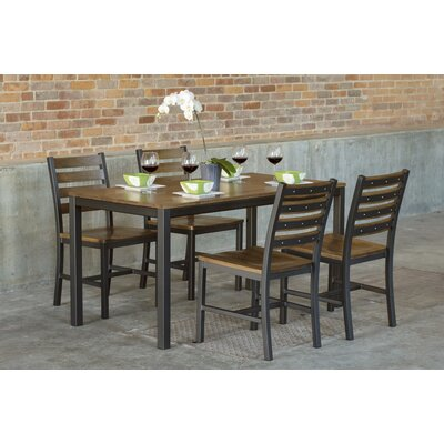 Loft 5 Piece Dining Set Table Top Color: Chocolate Spice, Size: 30 H x 30 W x 60 L