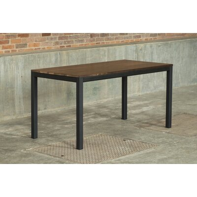 Loft 60x30 Dining Table Base Finish: Black, Top Finish: Maple
