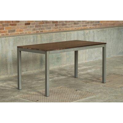 Loft 60x30 Dining Table Base Finish: Warehouse Metal, Top Finish: Walnut