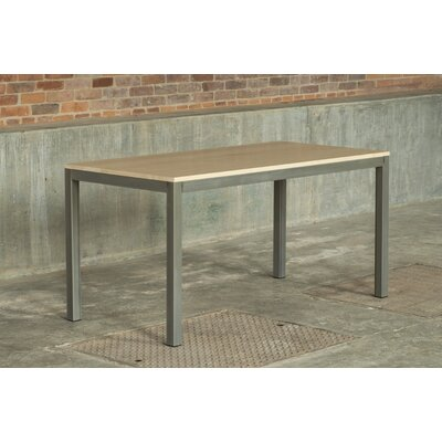 Loft 60x30 Dining Table Top Finish: Maple, Base Finish: Warehouse Metal