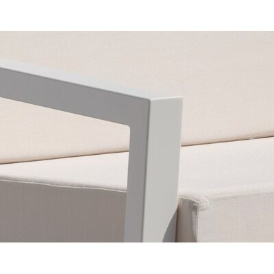 Vero 5 Piece Lounge Seating Group Fabric: Birds Eye, Finish: Textured White