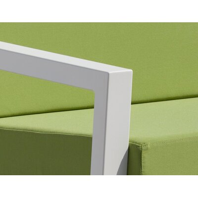 Vero 5 Piece Lounge Seating Group Fabric: Ginko, Finish: Textured White