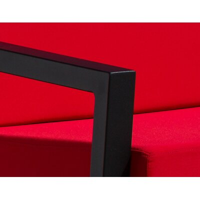 Vero 5 Piece Lounge Seating Group Finish: Textured Black, Fabric: Logo Red