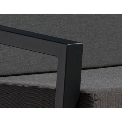 Vero 5 Piece Lounge Seating Group Finish: Textured Black, Fabric: Charcoal