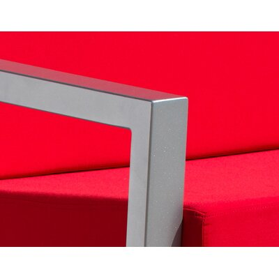 Vero 5 Piece Lounge Seating Group Fabric: Logo Red, Finish: Gloss Silver