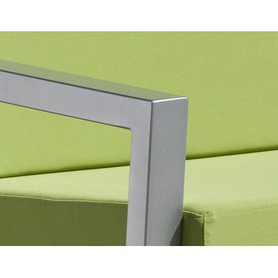Vero 5 Piece Lounge Seating Group Finish: Gloss Silver, Fabric: Ginko