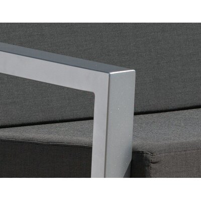 Vero 5 Piece Lounge Seating Group Fabric: Charcoal, Finish: Gloss Silver