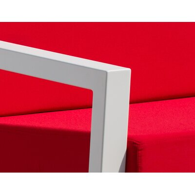 Vero 5 Piece Lounge Seating Group Fabric: Logo Red, Finish: Textured White