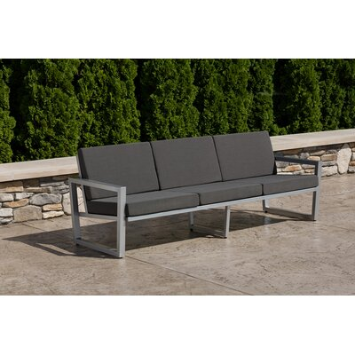 Vero Sofa with Cushion Finish: Gloss Silver, Fabric: Charcoal