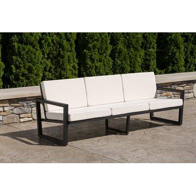 Vero Sofa with Cushion Fabric: Birds Eye, Finish: Textured Black