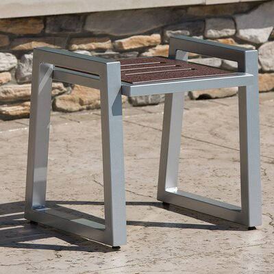 Vero End Table Base Color: Gloss Silver
