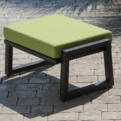 Vero Ottoman with Cushion Finish: Textured Black, Fabric: Ginko