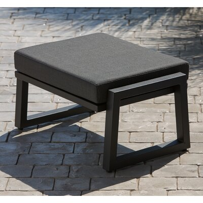 Vero Ottoman with Cushion Finish: Textured Black, Fabric: Charcoal