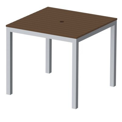 Elan Furniture Loft Outdoor 36 x 36 Bar Table Finish: Venetian Cocoa, Frame Finish: Silver