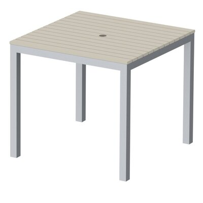 Elan Furniture Loft Outdoor 36 x 36 Bar Table Finish: Sand, Frame Finish: Silver