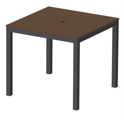 Elan Furniture Loft Outdoor 36 x 36 Bar Table Finish: Venetian Cocoa, Frame Finish: Black