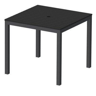 Elan Furniture Loft Outdoor 36 x 36 Bar Table Finish: Black, Frame Finish: Black