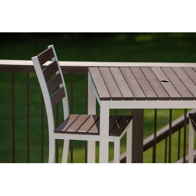 Elan Furniture Loft Outdoor 36 x 36 Bar Table Finish: Venetian Cocoa, Frame Finish: White