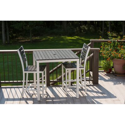 Elan Furniture Loft Outdoor 36 x 36 Bar Table Finish: Black, Frame Finish: White
