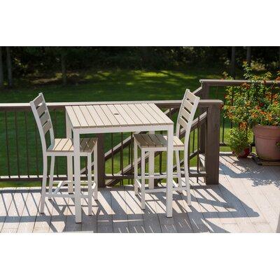 Elan Furniture Loft Outdoor 36 x 36 Bar Table Finish: Sand, Frame Finish: White