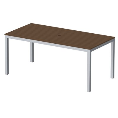 Elan Furniture Loft Outdoor 72 X 36 Counter Height Table Finish: Venetian Cocoa, Frame Finish: Silver