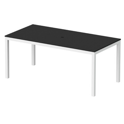 Elan Furniture Loft Outdoor 72 X 36 Counter Height Table Finish: Black, Frame Finish: Silver