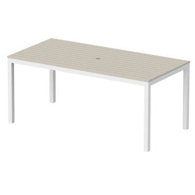 Elan Furniture Loft Outdoor 72 X 36 Counter Height Table Finish: Sand, Frame Finish: Textured White