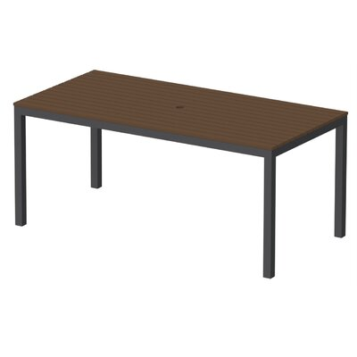 Elan Furniture Loft Outdoor 72 X 36 Counter Height Table Finish: Venetian Cocoa, Frame Finish: Black