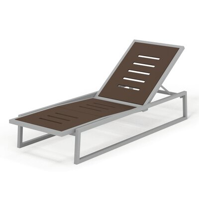 Vero Outdoor Chaise Lounge Finish: Gloss Silver