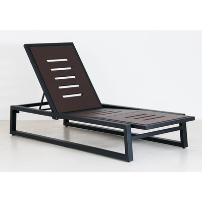 Vero Outdoor Chaise Lounge Finish: Textured Black