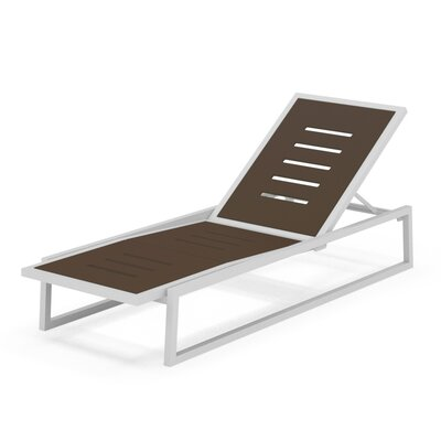 Vero Outdoor Chaise Lounge Finish: Textured White