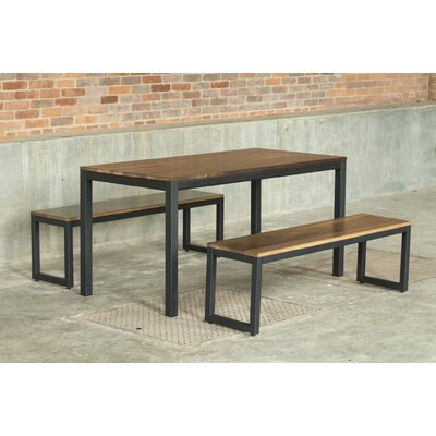 Loft 3 Piece Dining Set Finish: Warehouse Metal