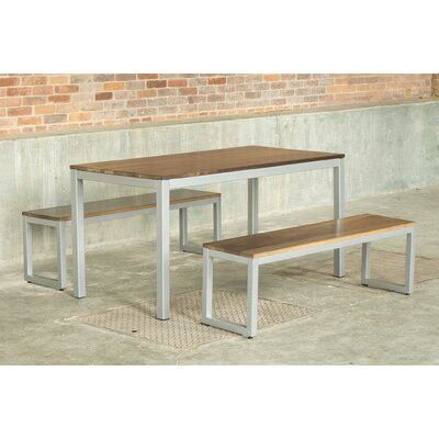 Loft 3 Piece Dining Set Finish: Gloss Silver