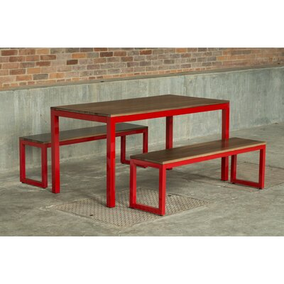 Loft 3 Piece Dining Set Finish: Gloss Red
