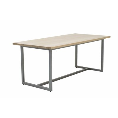 Port Dining Table 72x36 Top Finish: Maple, Base Finish: Warehouse Metal