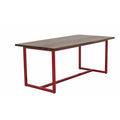 Port Dining Table 72x36 Top Finish: Walnut, Base Finish: Gloss Red