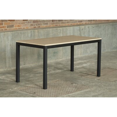 Loft 60x30 Dining Table Base Finish: Textured Black, Top Finish: Maple