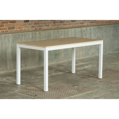 Loft 60x30 Dining Table Top Finish: Maple, Base Finish: Textured White
