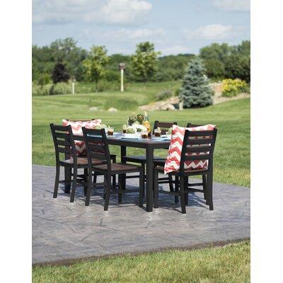 Loft Outdoor Dining Set Frame Finish: Textured Black