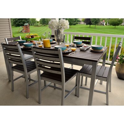 Loft 72x36 Outdoor Dining Table Finish: Gloss Silver