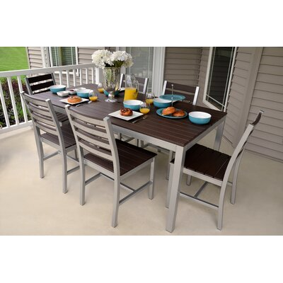 Loft Outdoor Dining Set Frame Finish: Miners Silver