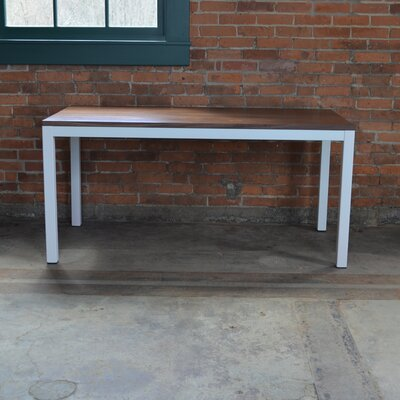 Loft 60x30 Dining Table Base Finish: White, Top Finish: Maple