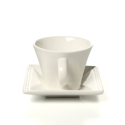 Ten Strawberry Street Whittier Square 8 oz. Flared Cup and Saucer (Set of 4) WTR-FLRSQCUP