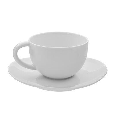 Ten Strawberry Street Royal Oval 10 oz. Teacup and Saucer (Set of 6) RVL0009