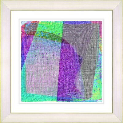 'Weave Series VIII' by Zhee Singer Framed Printing Print Frame Color: Creamy White, Size: 22