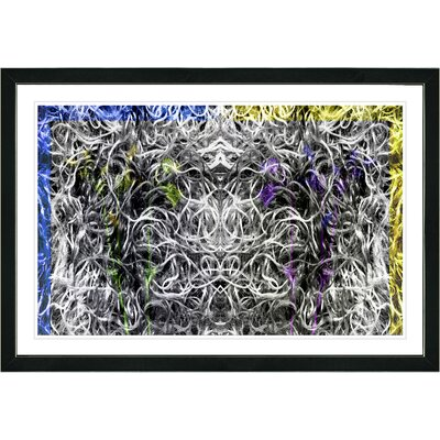 'Abstract Dane Moves' Framed Graphic Art Print on Paper Frame Color: Black