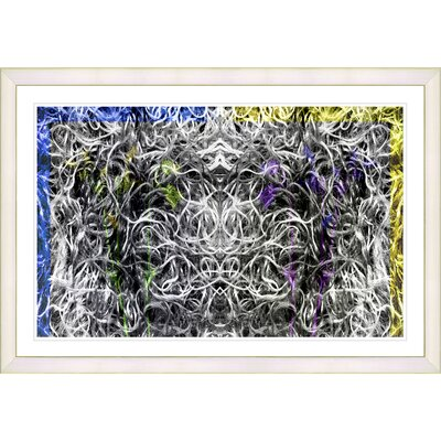 'Abstract Dane Moves' Framed Graphic Art Print on Paper Frame Color: White