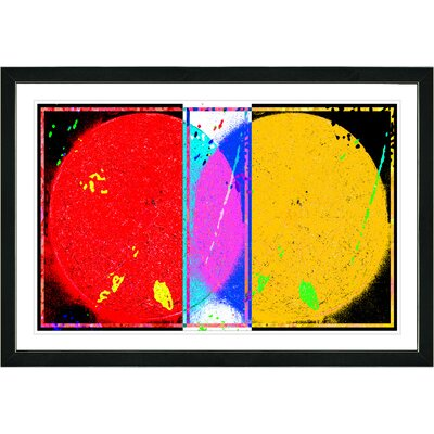 'Abstract Towards Eclipse' Framed Painting Print on Paper Frame Color: Black