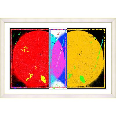 'Abstract Towards Eclipse' Framed Painting Print on Paper Frame Color: White