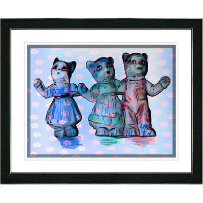"""Cat Family"""" Framed Art p03-597B-16x20BH"""